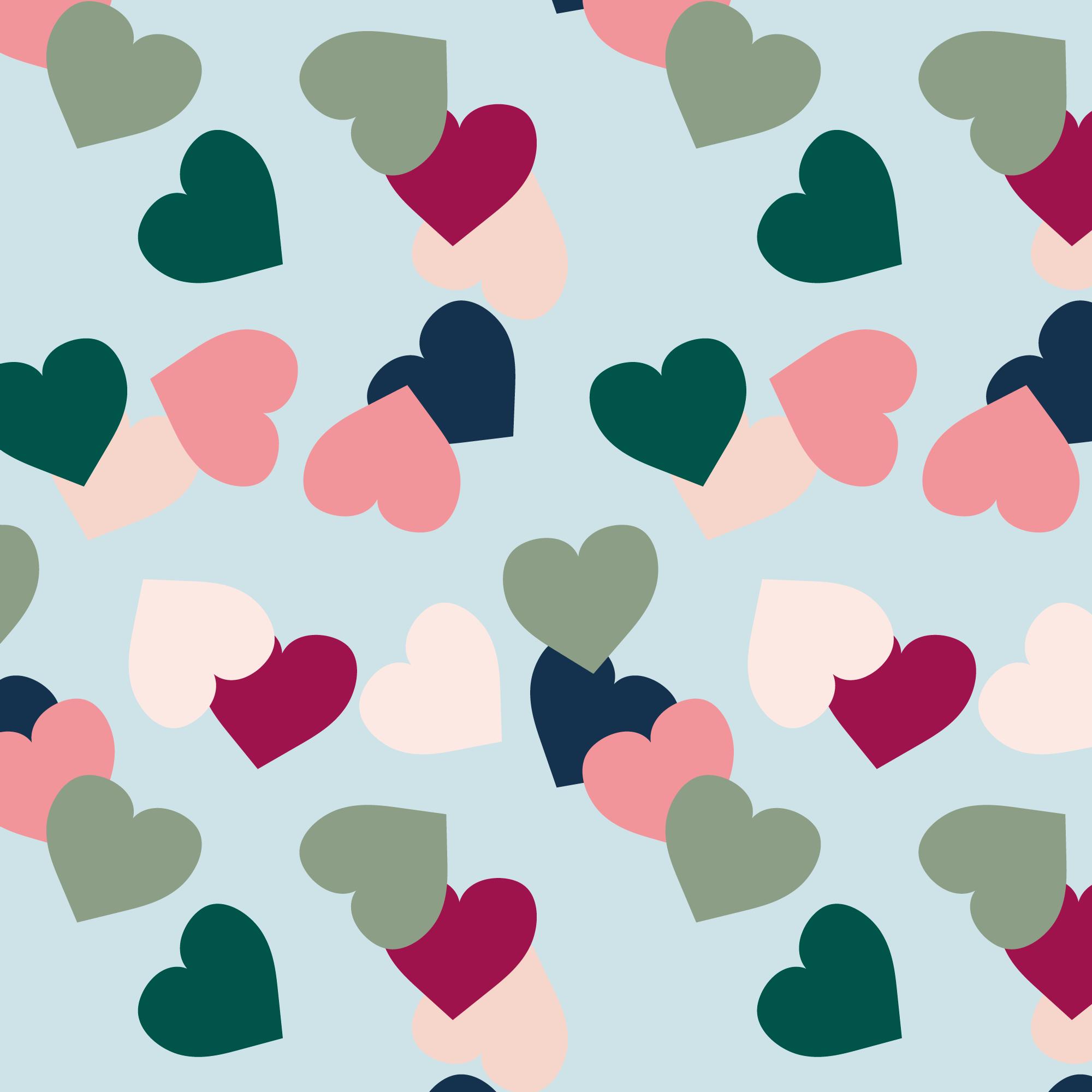 Colored hearts III
